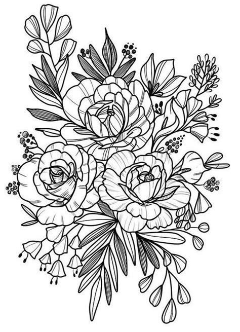 Ninas Tattoo in 2020 | Embroidery patterns, Floral drawing
