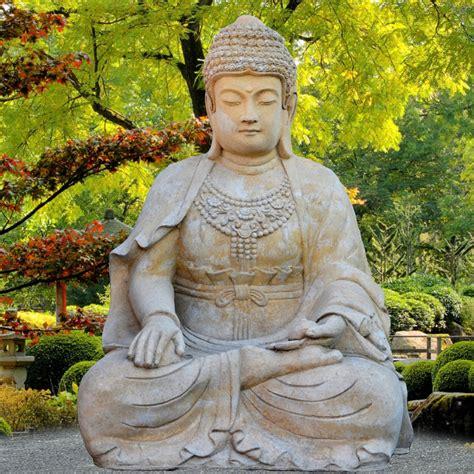 Großer Buddha Sitzend Steinskulptur  Sila • Gartentraumde