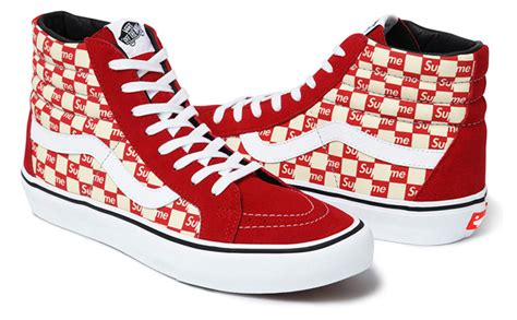 supreme vans sk8 hi supreme x vans sk8 hi pro authentic pro the drop date