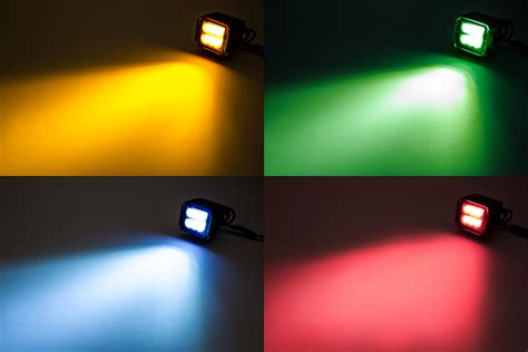 3 quot square led light pod lens cover colored work