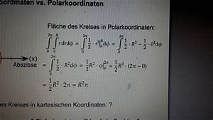 Steuerklasse 4 Faktor Berechnen : kreisfl che mit polarkoordinaten berechnen mathelounge ~ Themetempest.com Abrechnung