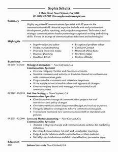 10  Communications Manager Resume
