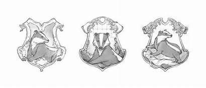 Hufflepuff Crest Pottermore Potter Harry Slytherin Badger