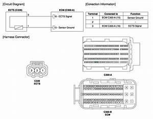 Hyundai Elantra  Engine Coolant Temperature Sensor  Ects