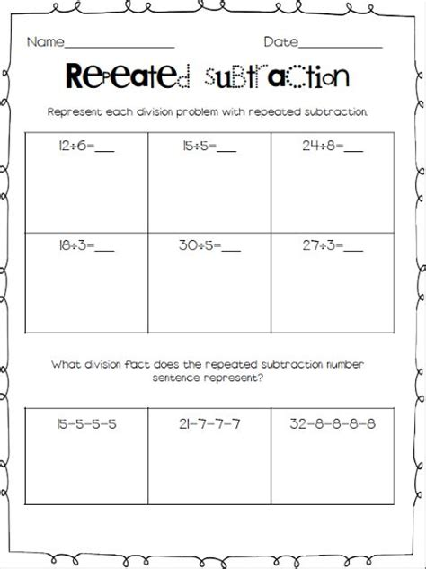 division worksheets using repeated subtraction division worksheets year 2 ks1 division by worksheets year 1 lesson