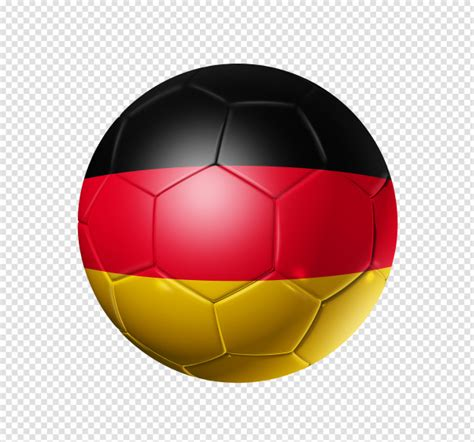 Football soccer ball and germany flag colors vector image. Soccer football ball with germany flag   Premium PSD File