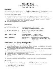 free sle resume for cnc machine operator cnc machinist resumes free resume templates
