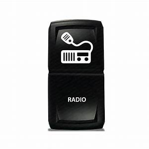 CH4X4 Marine Rocker Switch Radio Symbol 1