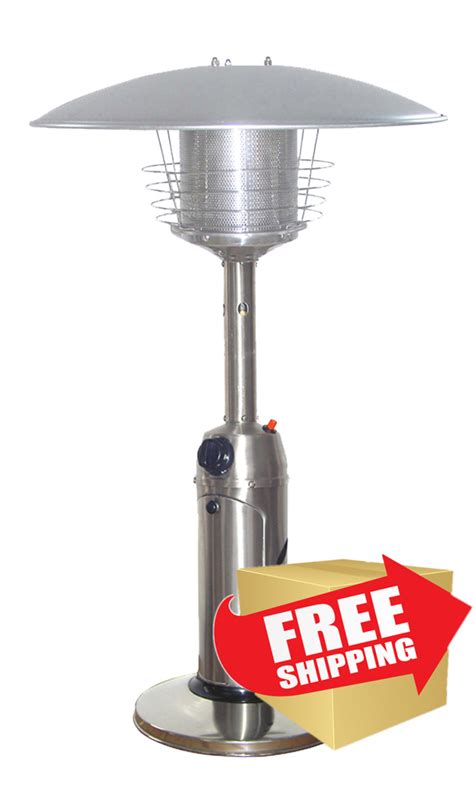 outdoor tabletop patio heater stainless steel finish