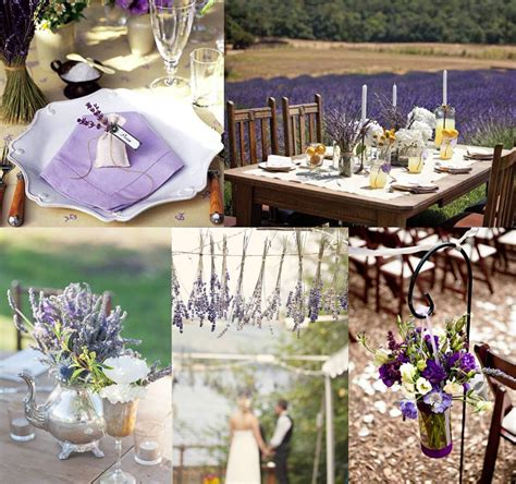Mood Board  Lavender Wedding Decoration  Weddings On The