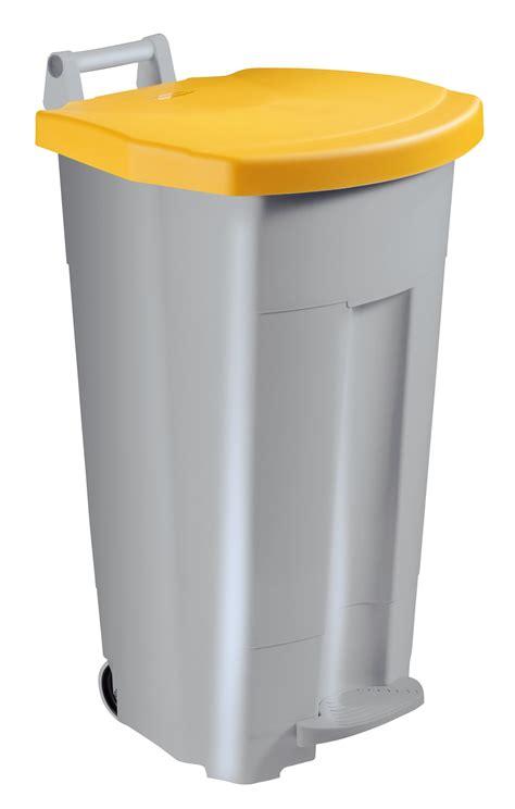 poubelle cuisine poubelle de cuisine rossignol 90 l haccp couvercle jaune
