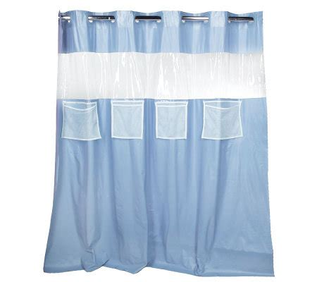 shower curtain with pockets hookless vision vinyl shower curtain with 4 mesh pockets
