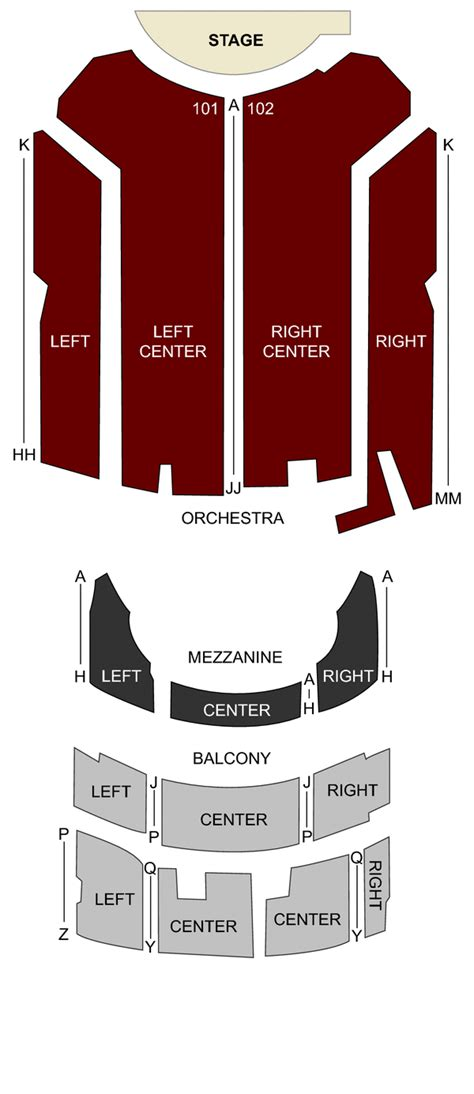 genesee theater waukegan il seating chart stage chicago theatercom