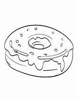 Coloring Donuts Yummy Donut Printable Cartoon Coloringfolder sketch template