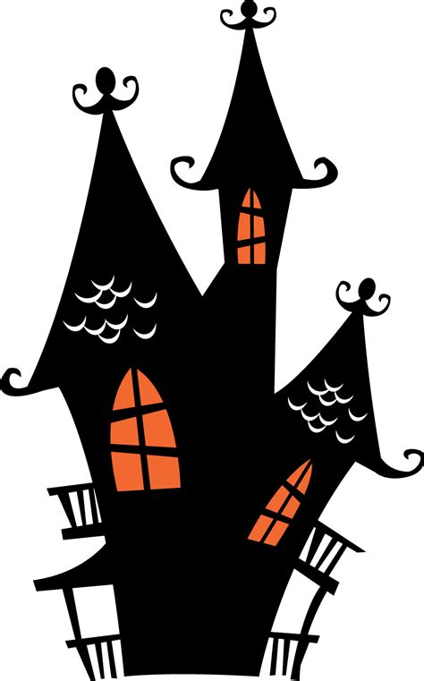 halloween haunted houses clipart   fiesta  english