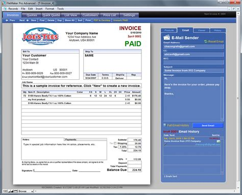 invoicer  easy   invoicing  screen printers