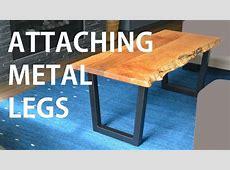 Installing Metal Legs on Live Edge Wood Table YouTube