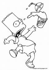 Simpsons Coloring Pages Bart Simpson Sheets Trailer Browser Window Topcoloringpages sketch template