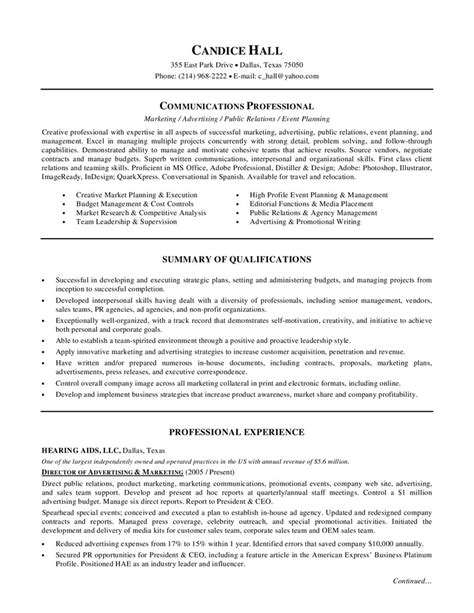 director of sales marketing resume advertising marketing resume exles essaymafia