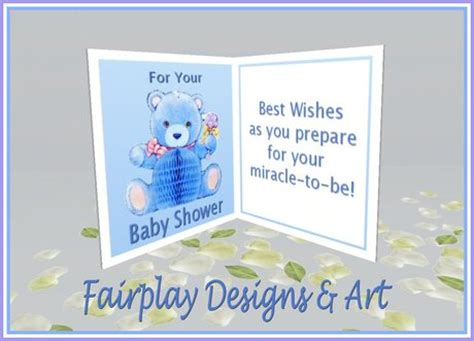 Second Life Marketplace  ***fda Best Wishes Baby Shower