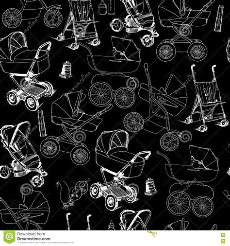 Get free 1 or 2 day delivery with amazon prime, emi offers, cash on delivery on eligible purchases. Hand Drawn Seamless Pattern Of Baby Prams, Carriages And ...