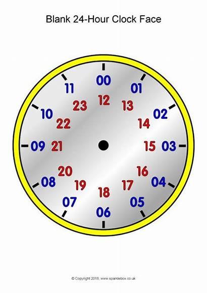 Hour Blank Clocks Analogue Sparklebox Clock Teaching