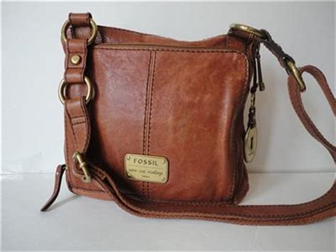 fossil long  vintage  soft leather purse brown