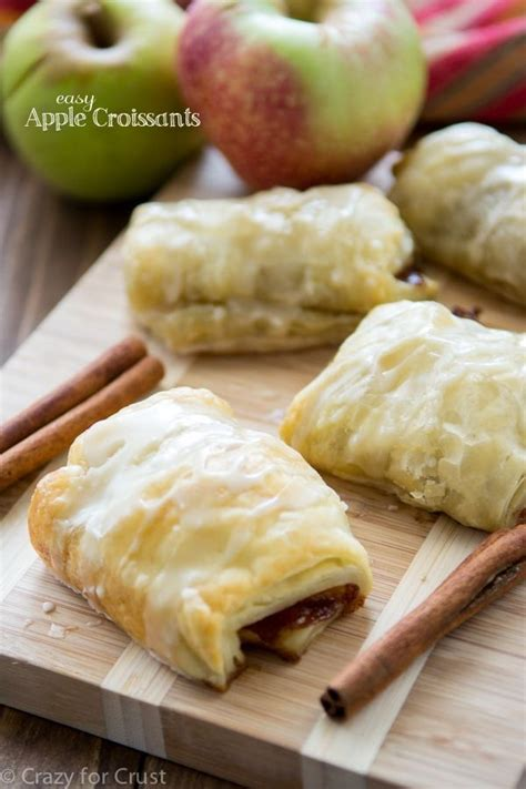 easy apple croissants   puff pastry  apple