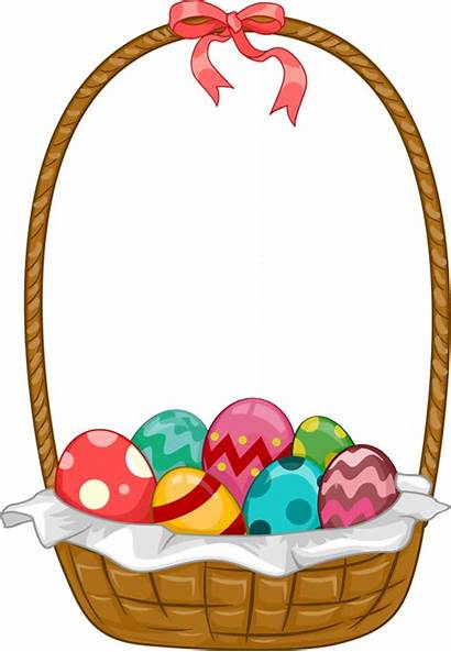 Easter Basket Clipart Egg Bunny Clip Eggs