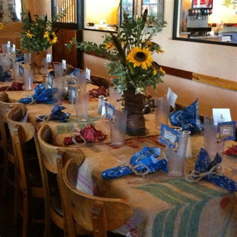 Western table decor Parties & Events Western table
