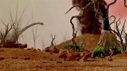 Prehistoric Background Jungle Landscape Realistic Valley Animation