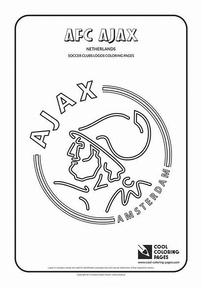 Coloring Pages Logos Soccer Ajax Cool Afc