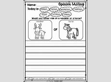 Kindergarten Writing prompts Opinion Writing & Picture