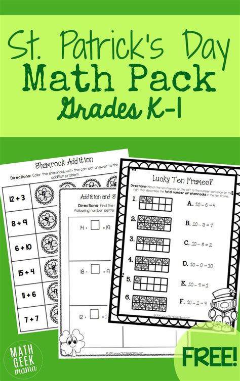 st s day math pack k 1