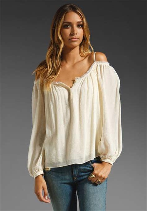 haute hippie blouse haute hippie oversized blouse in white ivory lyst
