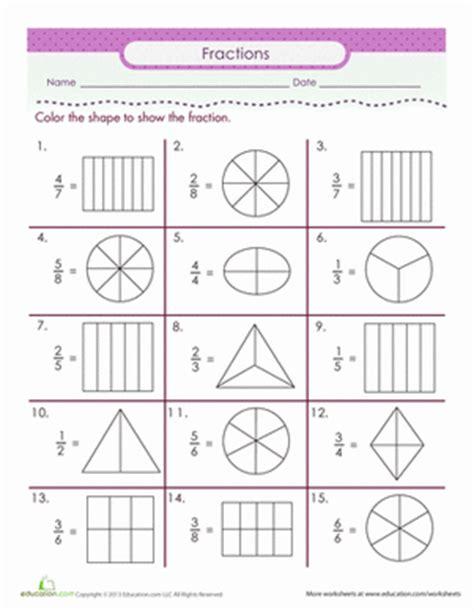 fractions number line worksheets color the fraction worksheets math and school