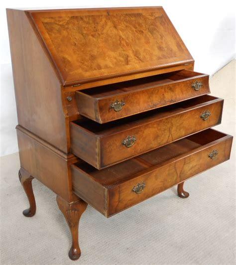 bureau qualit quality walnut writing bureau by burton reproductions ltd