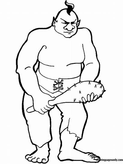 Coloring Giant Pages Troll Trolls Ogre Printable
