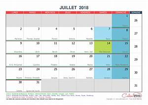Vacances Aout 2018 : calendrier mensuel mois de juillet 2018 avec f tes jours f ri s et vacances scolaires ~ Medecine-chirurgie-esthetiques.com Avis de Voitures