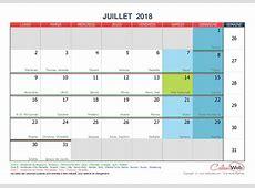 Juillet 2018 Calenwebcom