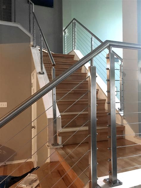 typical  extraordinary cable railing staircase