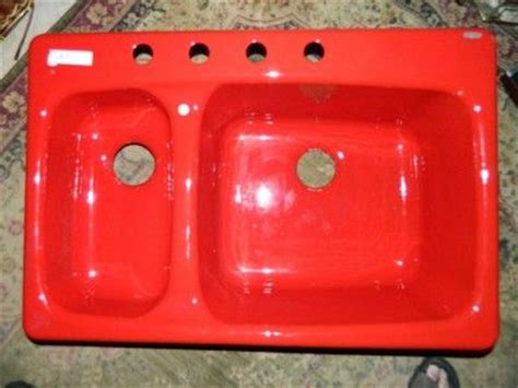 Double Bowl Kitchen Sink, Red Kitchen And Kitchen Sinks On