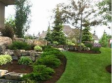 Evergreen boulder landscape Great Yard Ideas Landscape