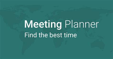 meeting planner find time time zones