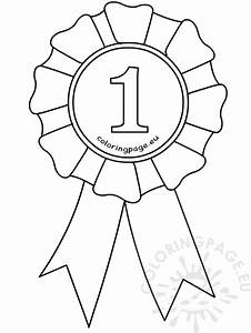 first place ribbon coloring pages pictures to pin on With 1st prize ribbon template