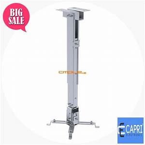 Cmple Sliver Projector Ceiling Mount  Max 44lbs  Cable