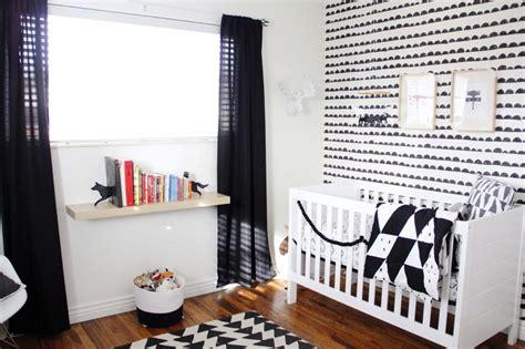 chambre en noir et blanc chambre bébé en noir et blanc