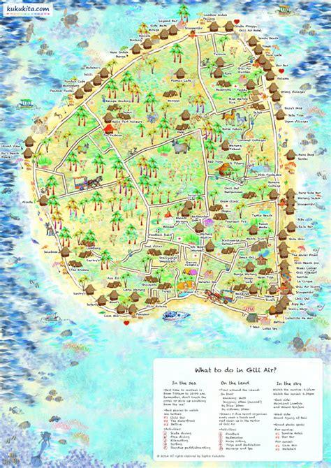 gili air gili air map life  bali
