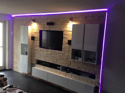 steinwand wohnzimmer obi mediawand selbst gebaut sonstiges hifi forum