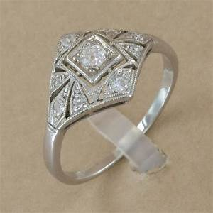 bague ancienne or gris diamants With bagues anciennes
